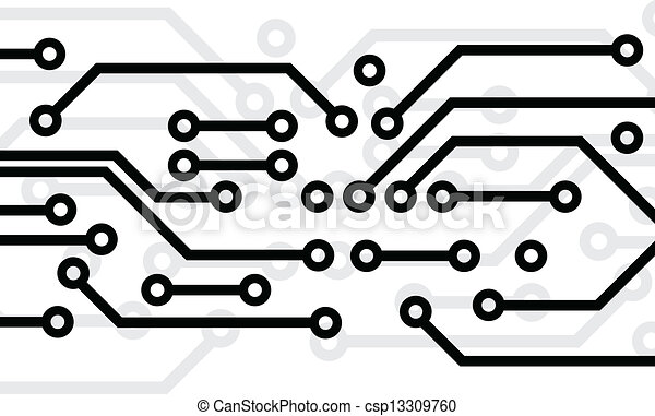 Black circuit board on white background clip art vector - Search ...
