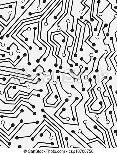 Circuit board over gray background vector illustration clipart ...