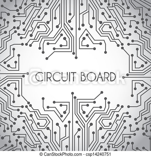 Circuit board design. Circuit board design over gray... clipart ...