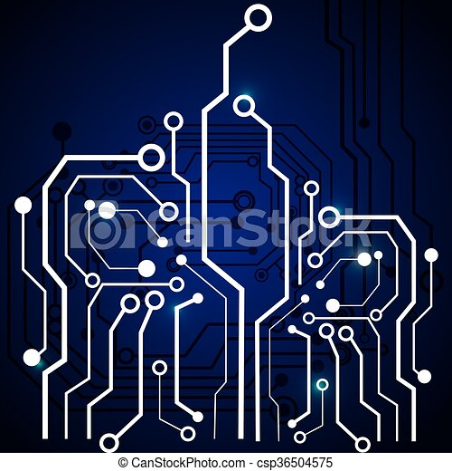 Circuit board design. technology and electronic concept. Circuit ...