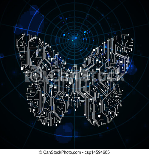 Circuit board vector background, technology illustration,... vector ...