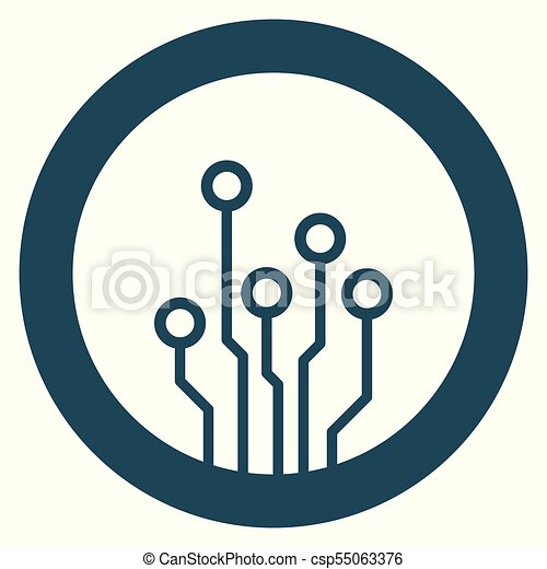 circuit board icon technology scheme symbol flat vector vectors rh canstockphoto ie
