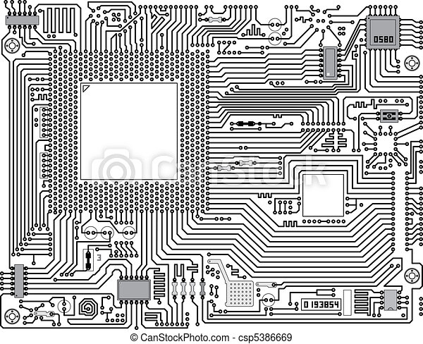 circuit board - industrial background - csp5386669