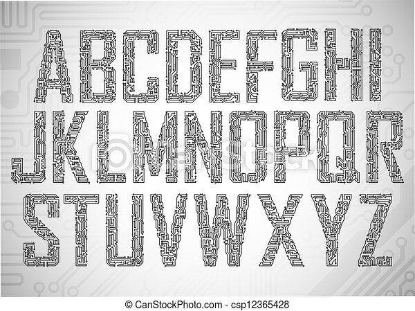Circuit board letters - csp12365428