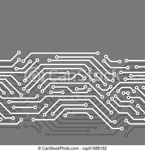 Circuit board seamless pattern. background of microchip... vector ...