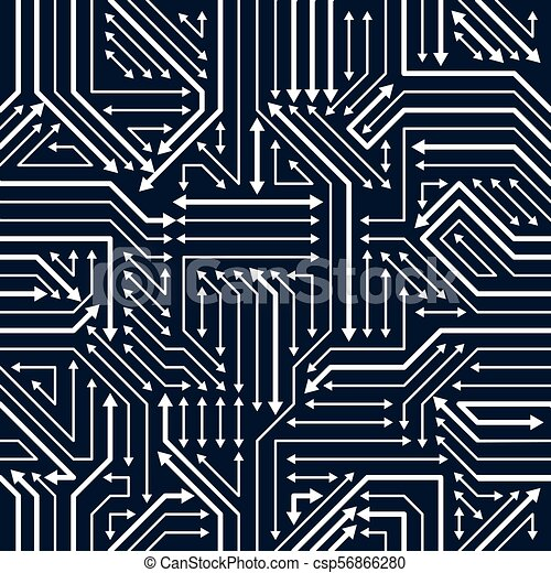 Circuit board seamless pattern, vector background  Microchip technology  electronics wallpaper repeat design
