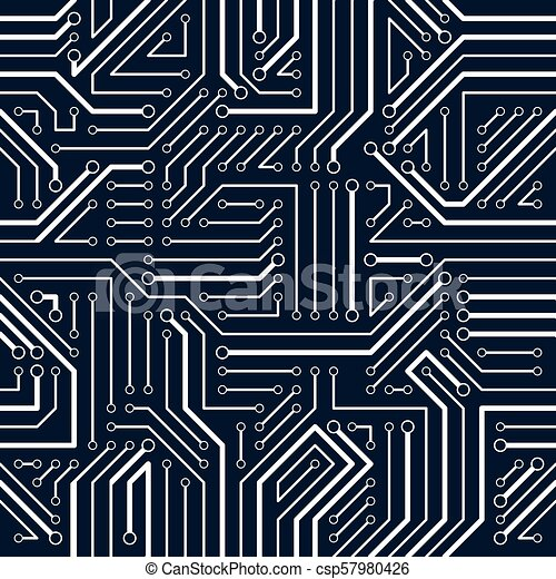 circuit board seamless pattern vector background microchip