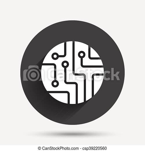 Circuit board sign icon. technology symbol. Circuit board... clip ...