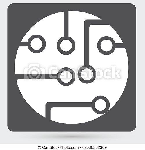Circuit board, technology icon - csp30582369