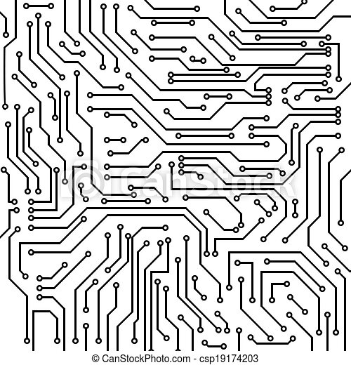 Circuit board vector background. Circuit board black and white ...