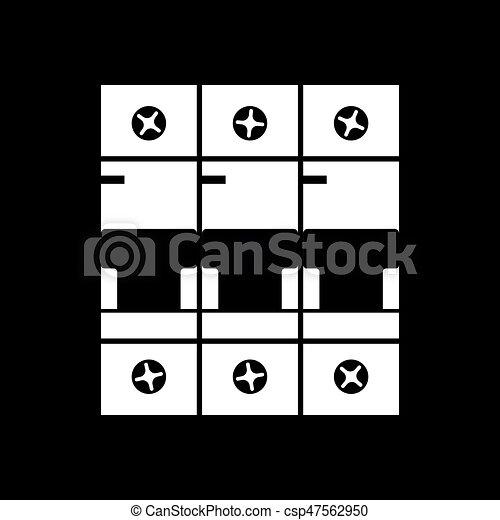 Circuit breaker icon - csp47562950