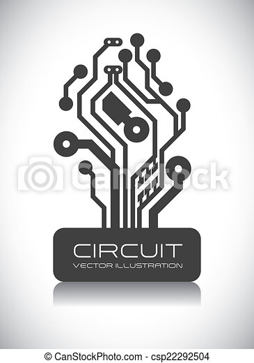 Circuit design . Circuit graphic design , vector illustration.