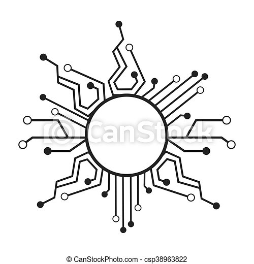 Circuit Electric Technology Icon Vector Illustration Design