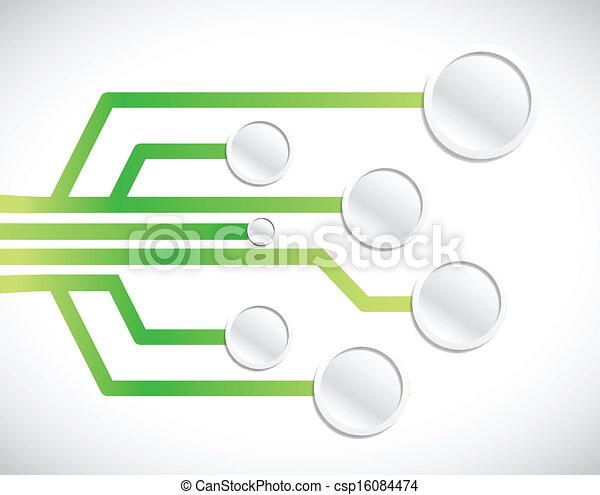 circuit network diagram illustration design - csp16084474