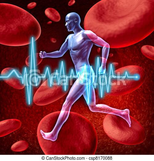 circulação, cardiovascular - csp8170088