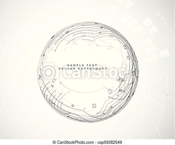 circular abstract technology circuit diagram - csp59382549