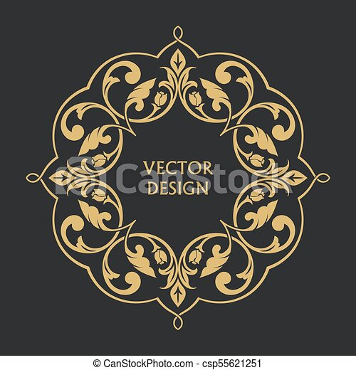 Circular arabic pattern round baroque ornament vintage frame circular arabic pattern csp55621251 stopboris Images