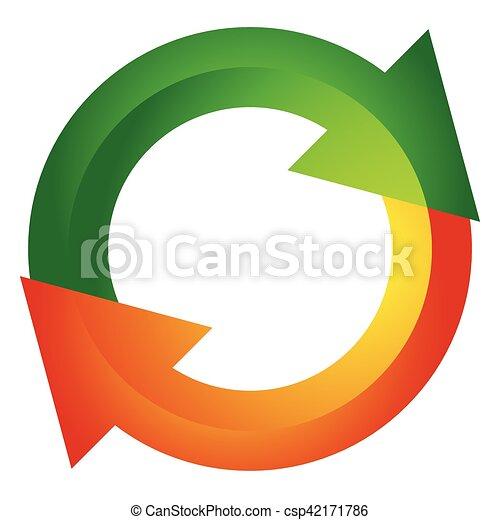 Circular arrow, circle arrow icon. Rotation, restart, twist, turn concept icon / button - csp42171786