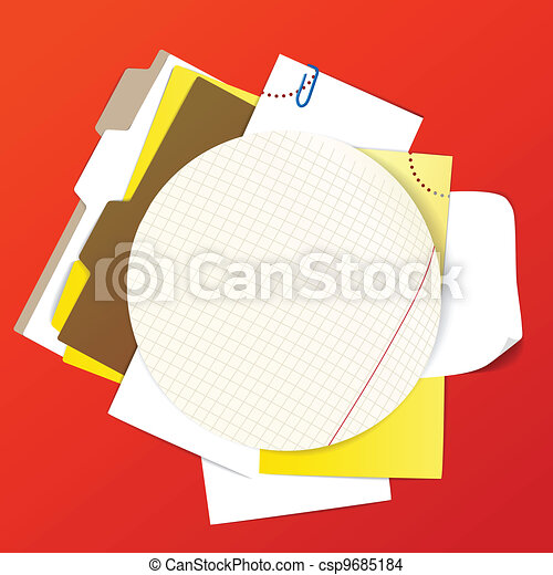 Circular background of an office st - csp9685184