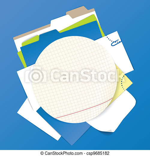Circular background of color office - csp9685182