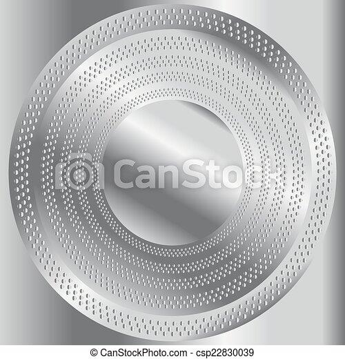 Circular brushed metal texture  - csp22830039
