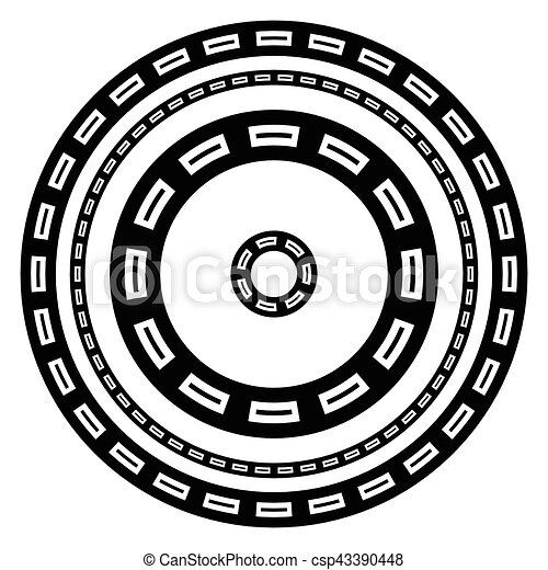 Circular geometric borders frames with rectangular print - csp43390448