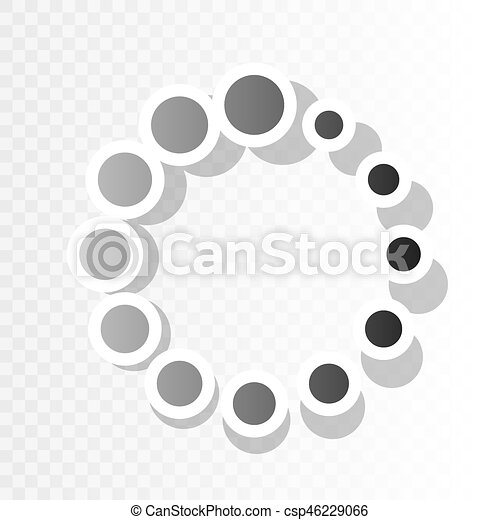circular loading sign vector new year blackish icon on transparent background with transition