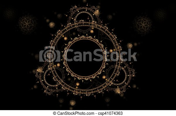 circular pattern on a black background - csp41074363