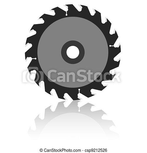 Circular saw blade on a white background.  - csp9212526