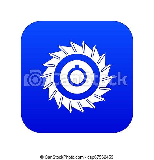 Circular saw disk icon digital blue - csp67562453