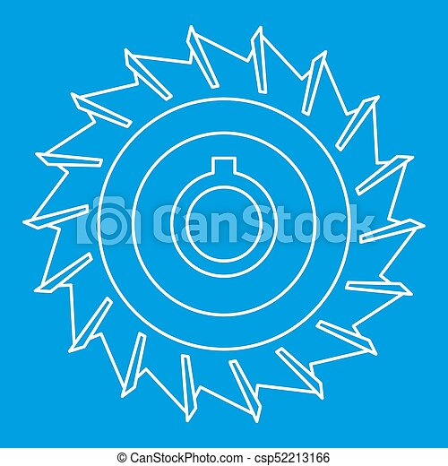 Circular saw disk icon, outline style - csp52213166
