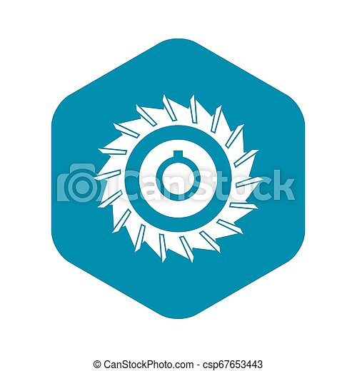 Circular saw disk icon, simple style - csp67653443