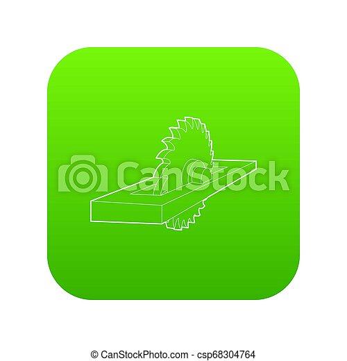 Circular saw icon green - csp68304764