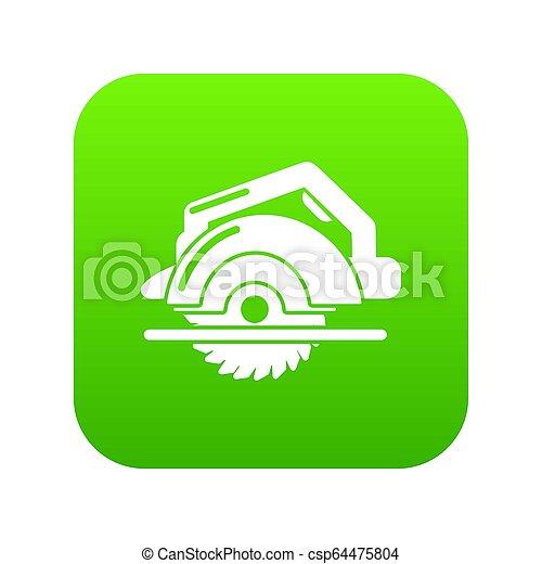 Circular saw icon green - csp64475804