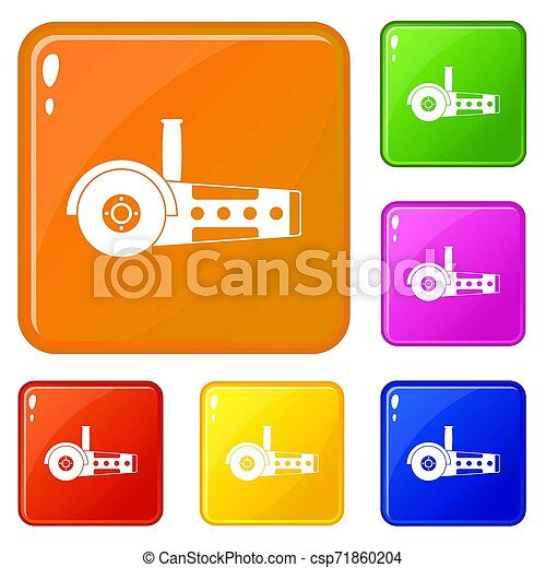Circular saw icons set color - csp71860204