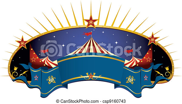 circus blue banner - csp9160743