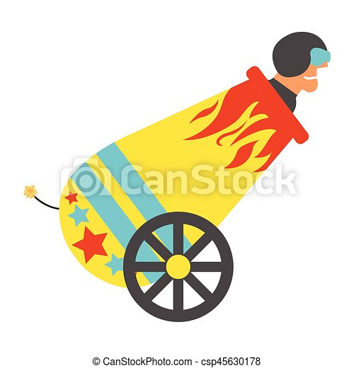 circus cannon with human cannonball icon vintage vector Magic Hat Coloring Page Magic Hat Cartoon