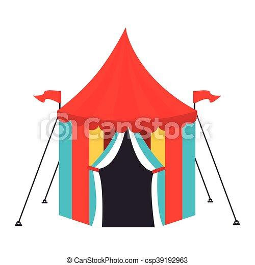 Circus Carnival Tent Icon Vector Illustration  sc 1 st  Can Stock Photo & Circus carnival tent icon vector illustration. Circus... clip art ...