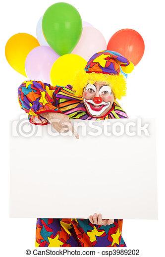 Circus Clown - Message - csp3989202