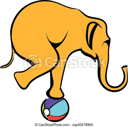 circus elephant on the ball icon cartoon circus elephant on clip rh canstockphoto com circus elephant clipart circus elephant clipart black and white