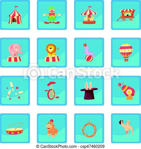 Circus icon blue app - csp47460209
