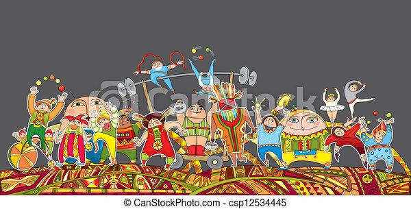 Circus Performance Parade Crowd - csp12534445