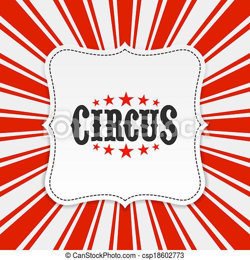 Circus poster, background - csp18602773