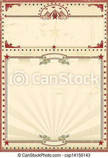Circus poster red vintage - csp14156143