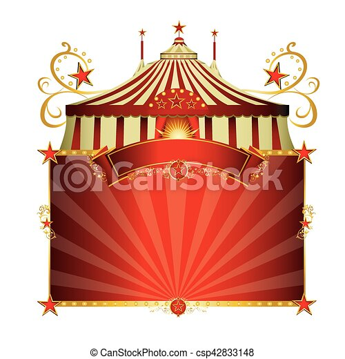 Circus red frame. A circus sign isolated on white background... eps ...
