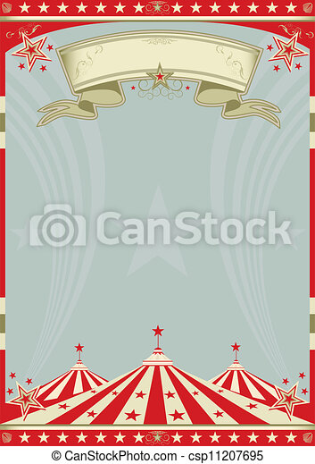 Circus retro big top - csp11207695
