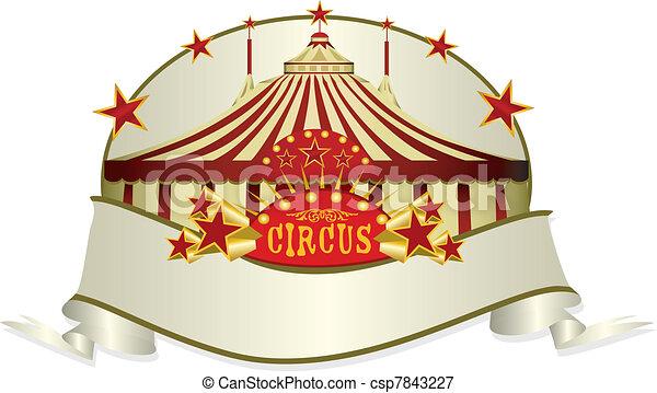 circus ribbon - csp7843227