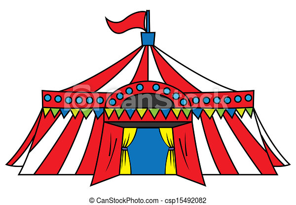 circus tent  sc 1 st  Can Stock Photo & Circus tent vector - Search Clip Art Illustration Drawings and ...