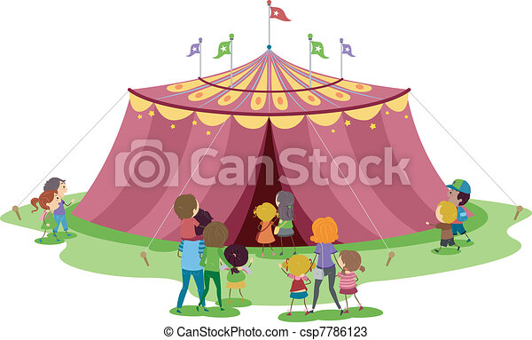 Circus Tent - csp7786123  sc 1 st  Can Stock Photo & Illustration of families about to go inside a circus tent vectors ...