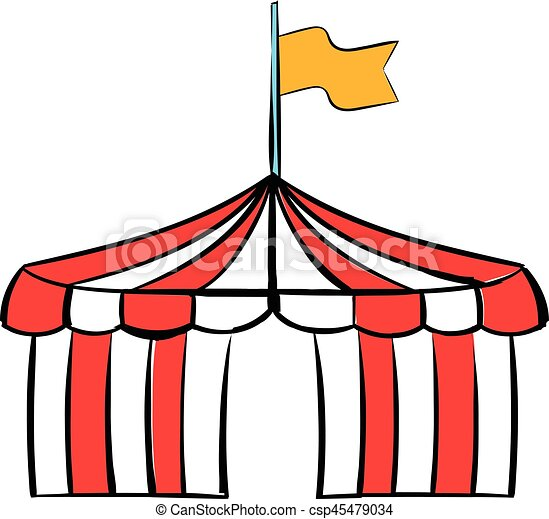 Circus Tent Icon Cartoon Vector  sc 1 st  Can Stock Photo & Circus tent icon cartoon. Circus tent icon in cartoon style ...